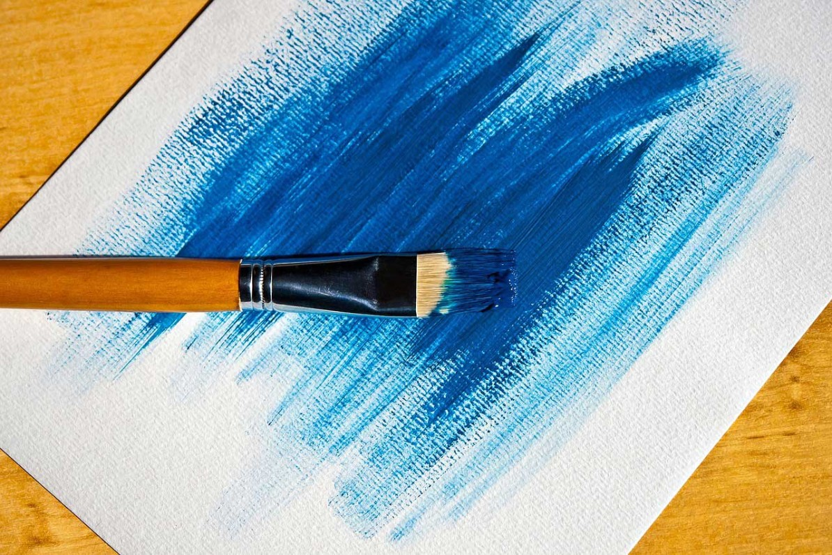 Painting With Blue