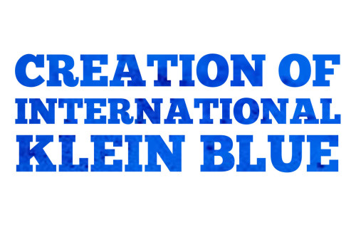 Creation of International Klein Blue Paint